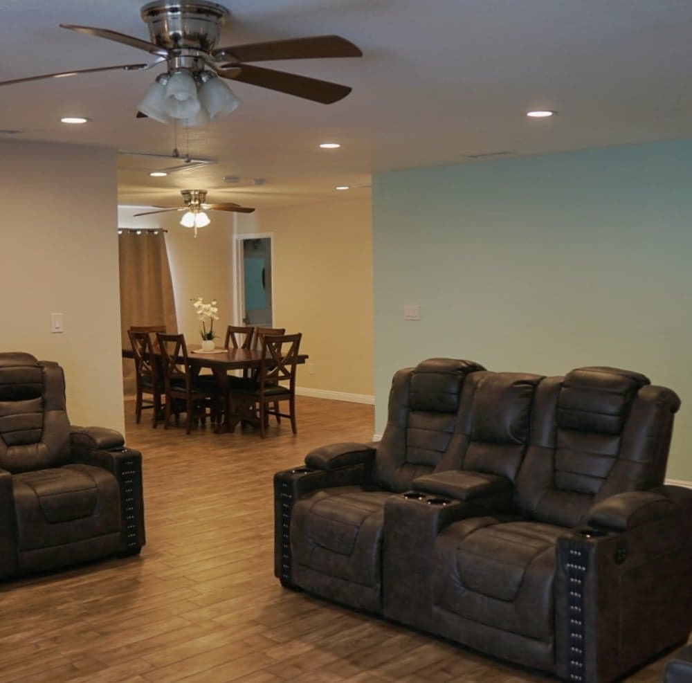 Blossom Valley Oasis | Assisted Living Home | 975 Asbury Ave, Pomona, CA 91767 | Front Room To Dining Room View